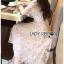 ชุดเดรสเกาหลี พร้อมส่งเดรสผ้าทูลล์ปักลายดอกไม้คัทเอาท์ไหล่ thumbnail 8