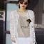( พร้อมส่งเสื้อผ้าเกาหลี) เสื้อคลุมผ้าลูกไม้ Organdy ปักและฉลุลายทั้งตัว ลายปักสไตล์คลาสสิค เก๋ๆ ด้วยทรงเสื้อคลุมแขนยาว สาวๆ ใส่ Match กับเสื้อยืด หรือ เสื้อกล้ามก็ดูสวยชิคมากคะ Mix&Match ได้หลายสไตล์เลยนะคะ thumbnail 5