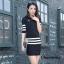เสื้อผ้าเกาหลีพร้อมส่ง Set knitting skirt เซทเสื้องานนิตติ้ง thumbnail 7