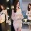 เสื้อผ้าเกาหลี พร้อมส่งค็อกเทลเดรสผ้าลูกไม้และชีฟองสีโอลด์โรส thumbnail 11