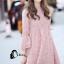 ชุดเดรสเกาหลี พร้อมส่งmini dress สีชมพูพาสเทล ทรงไฮโซหรูหรา thumbnail 3