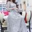 ชุดเดรสเกาหลี พร้อมส่งLong Dress -งดงาม สวยหรูและดูแพงมาก thumbnail 7