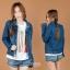 เสื้อผ้าเกาหลี พร้อมส่งเสื่อแจ๊กเก็จยีนเนื้อผ้าดีสุดๆ thumbnail 7