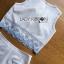 เสื้อผ้าเกาหลี พร้อมส่งเซ็ตเสื้อแขนกุดและกางเกงขาสั้นสีขาวปักตกแต่งลายสีฟ้า thumbnail 15
