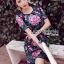 ชุดเดรสเกาหลี พร้อมส่งเดรสผ้าโพลีเอสเตอร์กระโปรงระบายปักลายดอกไม้สีสดใส thumbnail 1