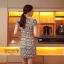 ( พร้อมส่งเสื้อผ้าเกาหลี) เดรสแฟชั่นเกาหลี เกรดพรีเมียม ดีเทลแต่งลายเส้น บนตัวเนื้อผ้า ลวดลายดูสวยงาม เนื้อผ้าเป็นแบบนิ่ม มี texture ในตัวเนื้อผ้า ทรงสวย มีซับใน แต่งซิป พร้อม pattern/cutting สวยเนี้ยบ thumbnail 5