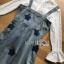 ชุดเดรสเกาหลี พร้อมส่งเดรสผ้าเดนิมสกรีนลายดาวทับเสื้อลูกไม้สีขาว thumbnail 16