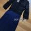 เสื้อผ้าเกาหลี พร้อมส่งจัมป์สูทขายาวผ้าลูกไม้สีดำและกางเกงสีน้ำเงิน thumbnail 10
