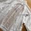 เสื้อผ้าเกาหลี พร้อมส่งเสื้อคลุมผ้าคอตตอนสีขาวชายพู่ปักลายสไตล์โบฮีเมียน thumbnail 11
