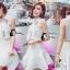 เสื้อผ้าเกาหลี พร้อมส่งเซ็ตเสื้อคร็อปคอปก ด้านหน้าเย็บติดดอกกุหลาบ 3 มิติ thumbnail 6