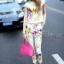 เสื้อผ้าเกาหลี พร้อมส่ง เซ็ทเสื้อ+กางเกง ตัวเสื้อใช้ผ้า 2 ชนิด กางเกง pattern สวยมาก thumbnail 5