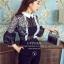 เสื้อผ้าเกาหลี พร้อมส่งจั้มสูทแขนสั้น thumbnail 2