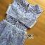 ชุดเดรสเกาหลี พร้อมส่งเดรสผ้าลูกไม้ฉลุลายซีทรูทรงเพบลัม thumbnail 12