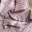 ชุดเดรสเกาหลีพร้อมส่ง เดรสผ้าชีฟองสีชมพูอ่อนตกแต่งระบายและกระโปรงพลีต thumbnail 8