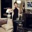 เสื้อผ้าเกาหลี พร้อมส่ง ชุดแม๊กซี่เดรสยาวทรงชุดเรียบหรู thumbnail 4