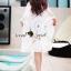 เสื้อผ้าเกาหลี พร้อมส่งSeoully Ivora Lace Long Outer thumbnail 4