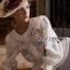เสื้อผ้าเกาหลี พร้อมส่งเสื้อผ้าคอตตอนปักลายดอกกุหลาบสไตล์วินเทจ thumbnail 5