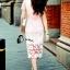 ชุดเดรสเกาหลี พร้อมส่งMini dress ลูกไม้แจนสั้นเนื้อถัก thumbnail 3
