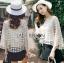 เสื้อผ้าเกาหลีพร้อมส่ง เสื้อผ้าลูกไม้ทอลายดอกไม้พร้อมซับในสายเดี่ยว thumbnail 8