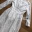 ชุดเดรสเกาหลี พร้อมส่งเดรสผ้าคอตตอนสีขาวปักลายดอกไม้สไตล์ลำลองสุดหวาน thumbnail 9