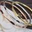 พร้อมส่ง ชุดกำไลข้อมือหุ้มด้วยทองคำแท้หนาพิเศษ งาน3กษัตริย์สอดหางช้าง thumbnail 1
