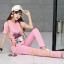 เสื้อผ้าเกาหลีพร้อมส่ง เซท มินิเดรส+กางเกงขาเดฟเข้าทรง thumbnail 4