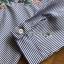 เสื้อผ้าเกาหลี พร้อมส่งเชิ้ตลายทางสีฟ้าปักลายดอกไม้ thumbnail 12