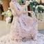 ชุดเดรสเกาหลี พร้อมส่งlong dress สีหวานสายเดี่ยวแบบผูก thumbnail 6