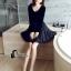 ชุดเดรสเกาหลี พร้อมส่งCendrillon Pricess Black Dress thumbnail 7