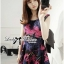 Colourful Embroidered Mini Dress thumbnail 2