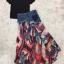 เสื้อผ้าเกาหลีพร้อมส่ง Sheila Black Top + Denim Skirt thumbnail 9