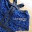 ชุดเดรสเกาหลี พร้อมส่งเดรสเปิดไหล่ผ้าลูกไม้สีน้ำเงินเข้มตกแต่งริบบิ้นสีดำ thumbnail 13