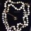 พร้อมส่ง Chanel Necklace เกรดซุปเปร์ไฮเอนคะงานหิน Howlite thumbnail 1
