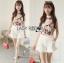 เสื้อผ้าเกาหลี พร้อมส่งLady Emily Floral Printout set thumbnail 4
