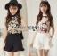 เสื้อผ้าเกาหลี พร้อมส่งLady Emily Floral Printout set thumbnail 2