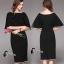 ชุดเดรสเกาหลี พร้อมส่งMini dress สีดำทรงแขนค้างคาวช่วงเอวเย็บตกแต่งคริสตัลสี thumbnail 9