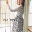 ชุดเดรสเกาหลี พร้อมส่งเดรสผ้าลูกไม้สีเทาอมฟ้าไลแล็คสไตล์แบรนด์ Self-Portrait thumbnail 10