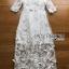 ชุดเดรสเกาหลี พร้อมส่งเดรสผ้าลูกไม้สีขาวปักลายผีเสื้อ thumbnail 9
