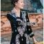 ชุดเดรสเกาหลี พร้อมส่ง เดรสสีดำปักลายลูกน้ำสไตล์โบฮีเมียน thumbnail 3