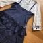 เสื้อผ้าเกาหลี พร้อมส่งเซ็ตเสื้อผ้าลูกไม้แขนยาวสีขาวทับด้วยสายเดี่ยวผ้าเครปน้ำเงินเข้ม thumbnail 14
