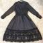 ชุดเดรสเกาหลี พร้อมส่งlong dress ผ้าซาตินด้านในอัดกาว thumbnail 5