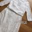 Leslie Smart Elegant White Lace Dress with Ribbon thumbnail 6