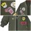 เสื้อผ้าเกาหลี พร้อมส่งเสื้อคลุมตัวยาว สีเขียวทหารแบบยาวคลุมสะโพก thumbnail 2