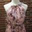 ชุดเดรสเกาหลี พร้อมส่งlong dress สีหวานสายเดี่ยวแบบผูก thumbnail 9