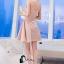 ชุดเดรสเกาหลีพร้อมส่ง Sweet Pinky Sensual Dress thumbnail 2