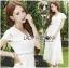 Hana Classic Feminine Lace Maxi Dress in White thumbnail 1