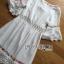 ชุดเดรสเกาหลี พร้อมส่งเดรสยาวผ้าคอตตอนตกแต่งลูกไม้ thumbnail 12
