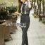 Babara Smart Casual Black & White Ruffle Lace Jumpsuit thumbnail 1