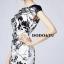 ชุดเดรสเกาหลี พร้อมส่งชุดเดรสแขนกุดผ้าไหมซาตินพิมพ์ลายดอก thumbnail 5