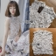 เสื้อผ้าเกาหลีพร้อมส่ง เสื้อผ้าลูกไม้ขาวทรงแขนกุดพร้อมซับในสีนู้ด thumbnail 12